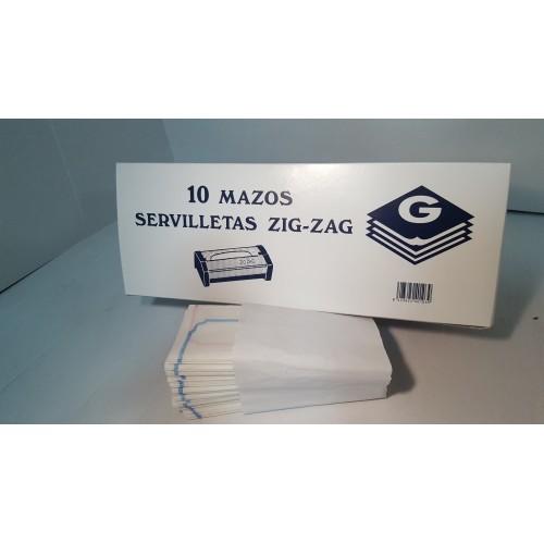 CAJA-SERV ZIG ZAG RETRACTIL 10 UDS